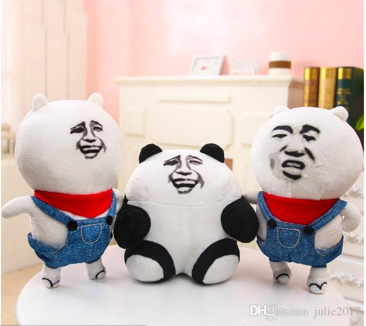 New Gold curator pupils little cousin panda outbreak comic expression made than trio plush toy doll