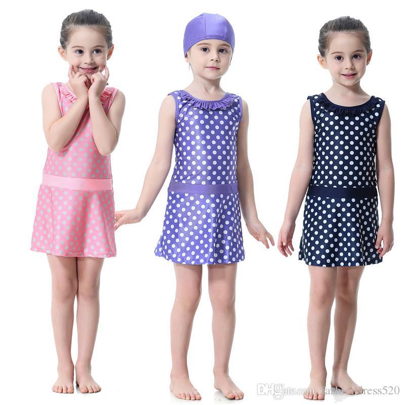 Muslim Girls Full Cover Swimwear Islamic Kids Swimsuits Islam Beach Wear