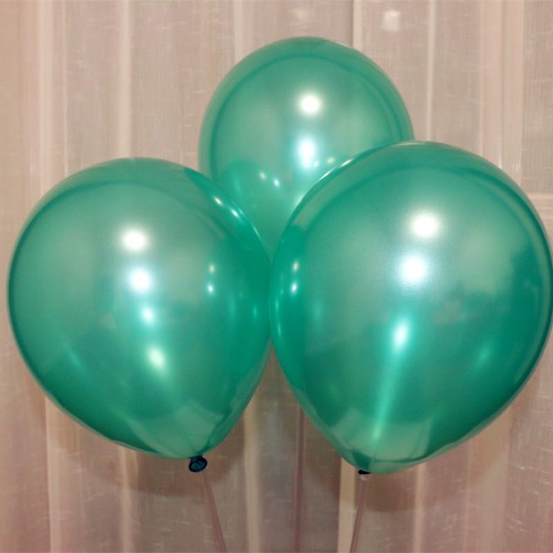 Hot green balloon 100pcs/lot1.5g latex pearl ballons decorations Christmas balloons birthday party accessories wedding supplies