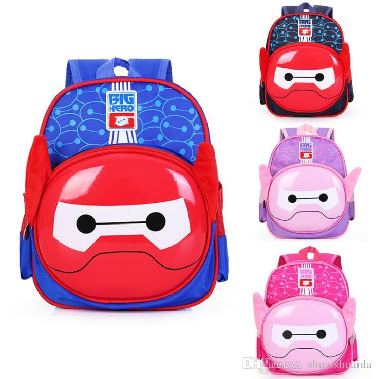 2018 Schoolbag Baby knapsack Children's bags Kindergarten Pupil's backpack Child's bag Canvas + EVA School Bags Cute cartoon A5