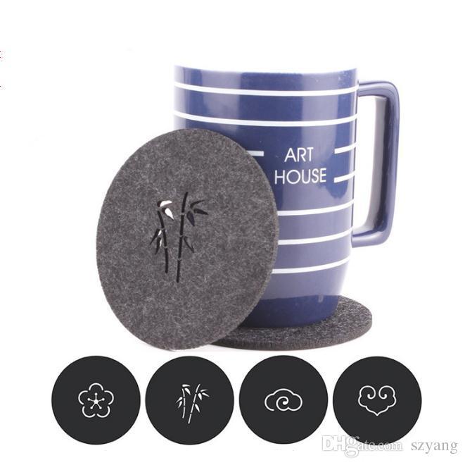 Cafe Jardin Decorative Mat: Acheter Chaud Feutre Coaster Tasse Tapis De Bande Dessinée
