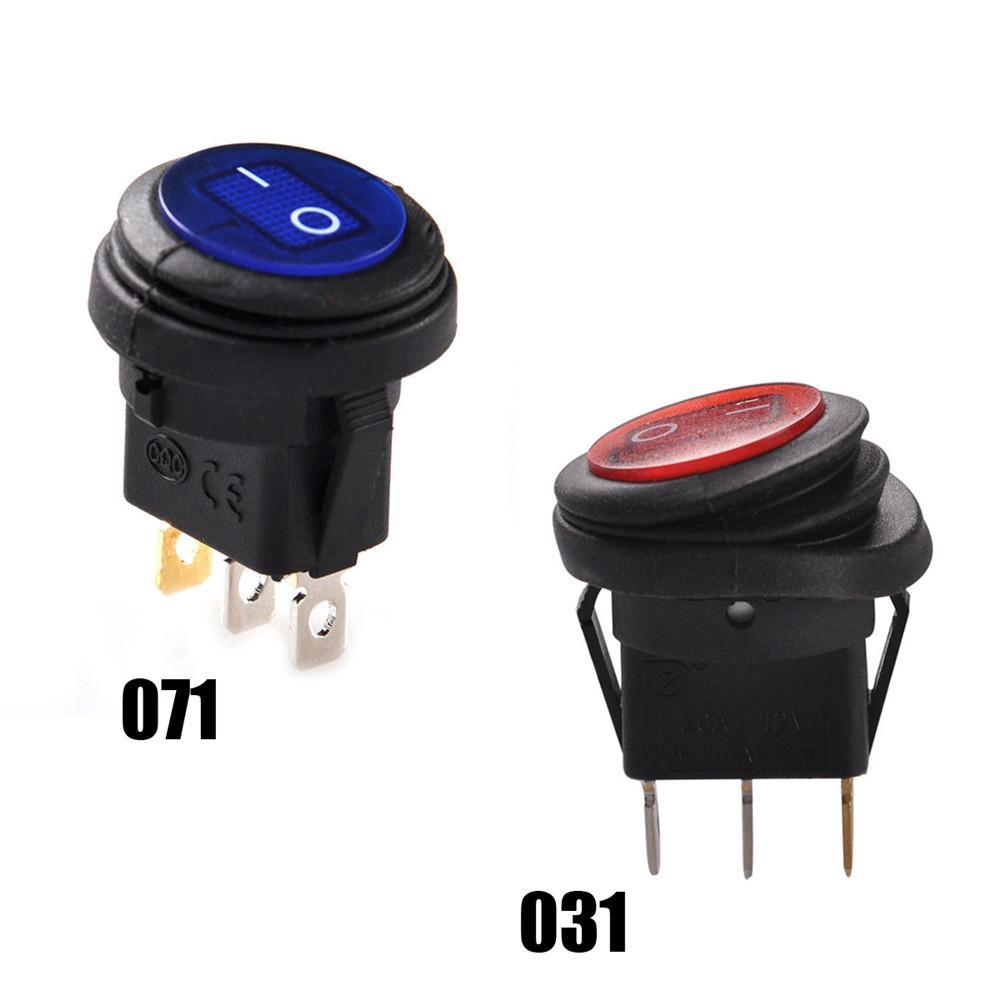 Parts Express SPST Automotive Rocker Switch w//Red LED 12V