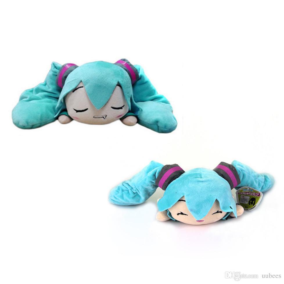 EMS Hatsune Miku Smile Slobber Lying 25CM Plush Doll Stuffed Best Gift Soft Toy