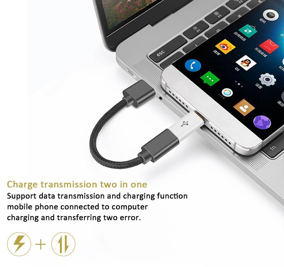 마이크로 USB to Type-C 타입 C 데이터 충전 케이블 어댑터 변환기 MacBook Nexus 5X 6P 용 커넥터 Xiaomi mi4C 스마트 장치 2000pcs / lot