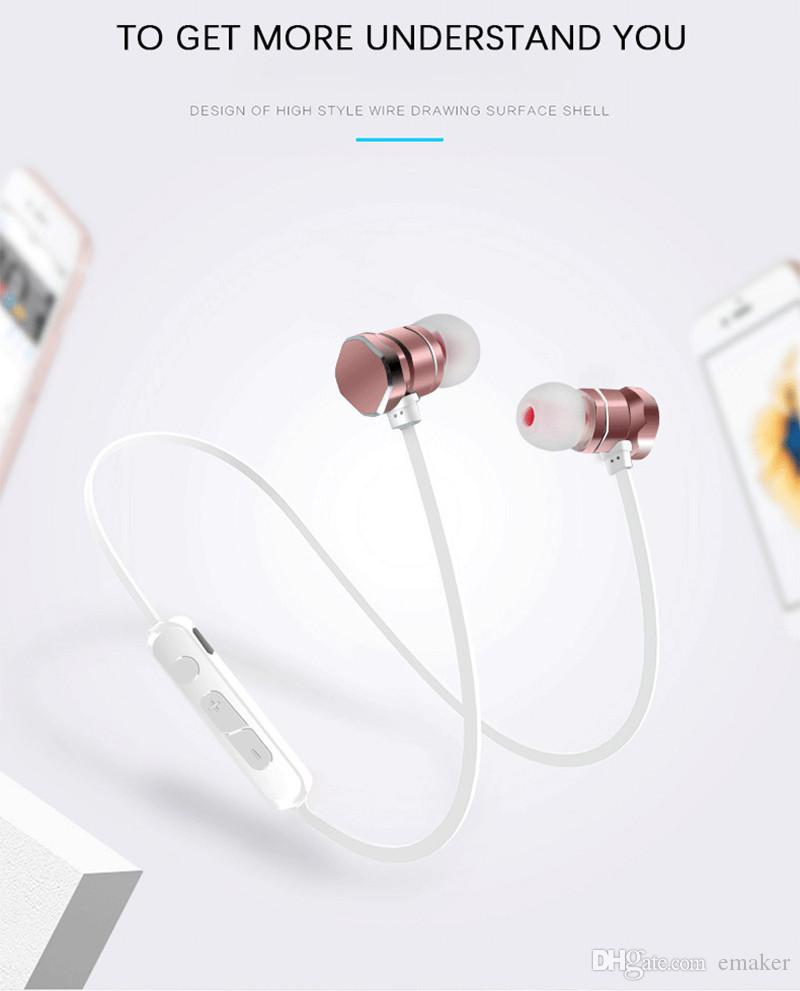 X3 Magnetic Bluetooth Headphone Earphone Waterproof Sweatproof Sports Stereo Wireless Headset For Iphone X 6 7 8plus S8 Universal Cell Phone Bluetooth Earbuds For Cell Phones Cell Phone Bluetooth Earbuds From Emaker