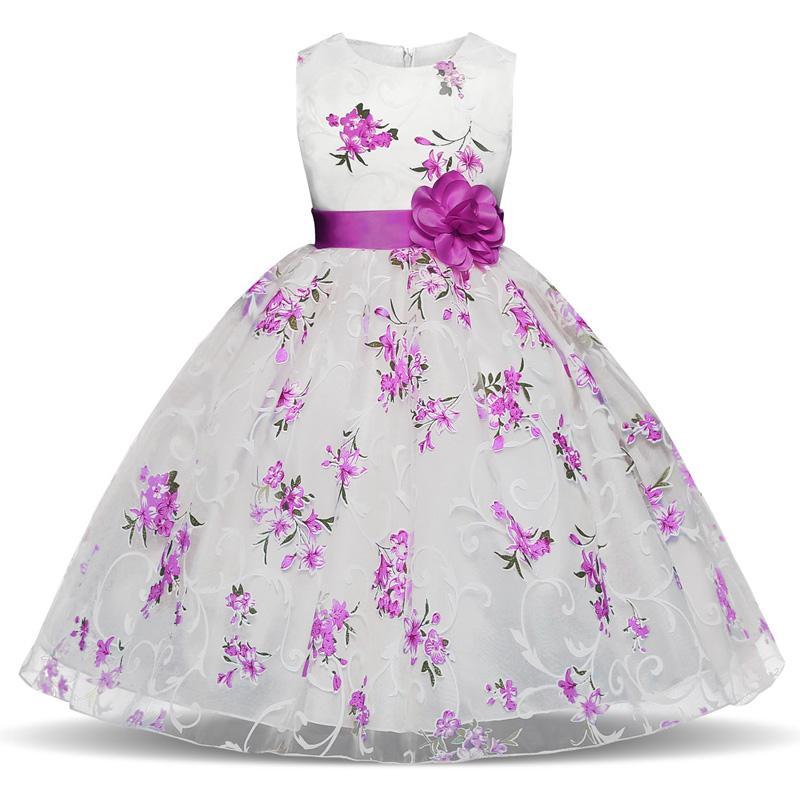Vestidos para niñas Fiesta de cumpleaños Princesa Vestido de flores Nuevo estilo