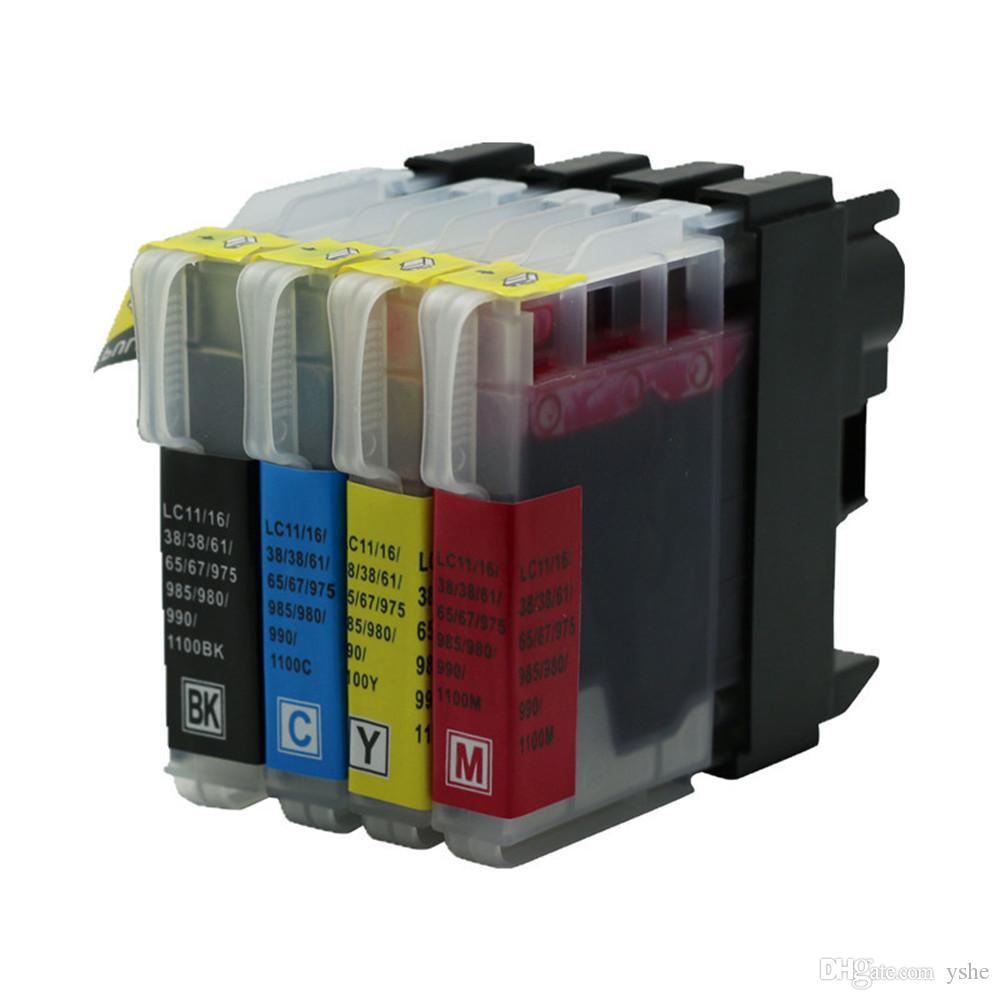 4PK-Tintenpatronen Kompatibel für Brother-Drucker LC1100 LC11 LC16 LC38L LC65 LC980 DCP-J140W DCP-385C DCP-6690CW MFC-250C MFC-J700D