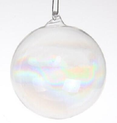 Clear Christmas Ornaments.Promotion Home Gardens Wedding Home Decoration Christmas Ornament Clear Glass 80mm Round Bauble Ball Decoration 5 Pack Decorations With Christmas