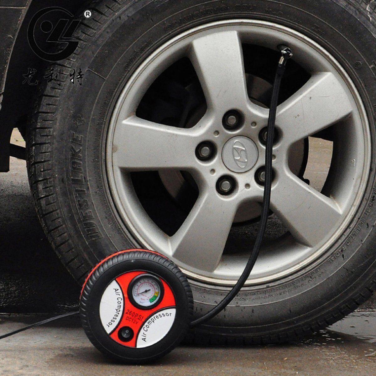 2019 Aggiornamento Mini portatile elettrico del compressore d'aria della pompa auto del gonfiatore della gomma attrezzo della pompa 12V 260PSI FP9 Shpping libero
