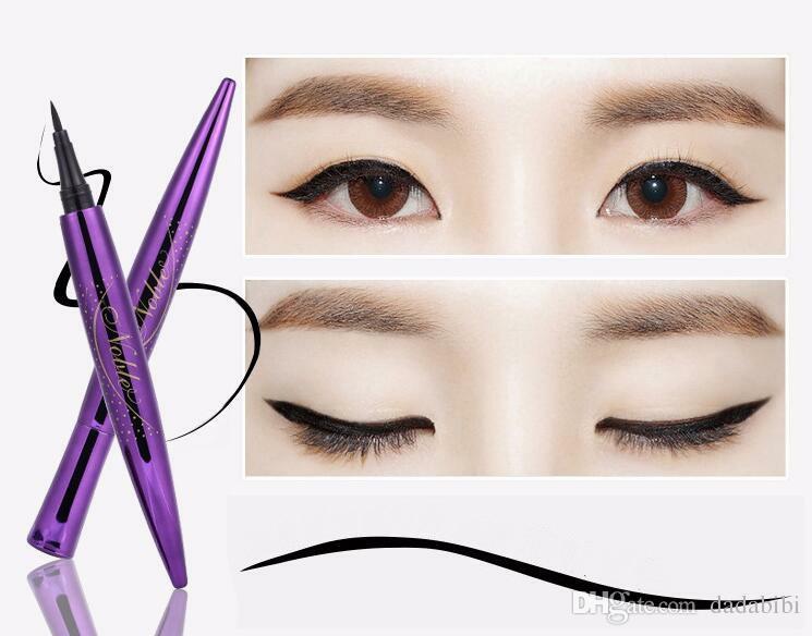 Makeup beginners slim smooth eyeliner waterproof no smudge hard big eyes fixed eyeliner pen liquid eyeliner