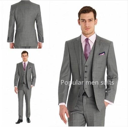 POPULAR 2018 Homens Terno de Negócio Slim fit Clássico Masculino Ternos Blazers Terno de baile de finalistas Homens Noivo Groomsmen 2 Peças (jaqueta + calças)