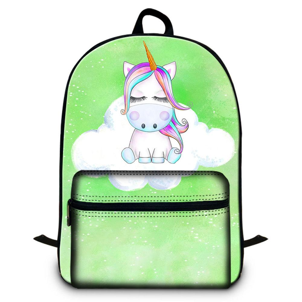 15.5 Inches Laptop Backpack For Women Office Unicorn Animal Designer School Backpacks For Girl Casual Shoulder Bags For Traveling Sac A Dos