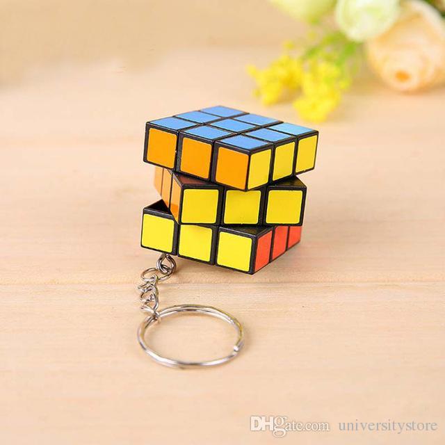 Puzzle Cube Magique Porte-clés porte clef Mignon Mini Porte-Clés Pendentifs Porte-clés Petits Ornements En Gros