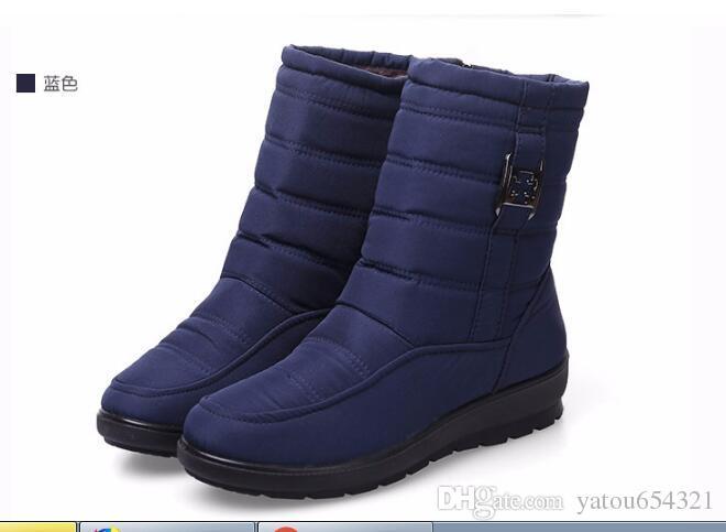 Le nuove scarpe da neve delle donne di stile 2019 calore inverno cotone scarpe ombrello panno impermeabile breve neve stivali spessi e caldi