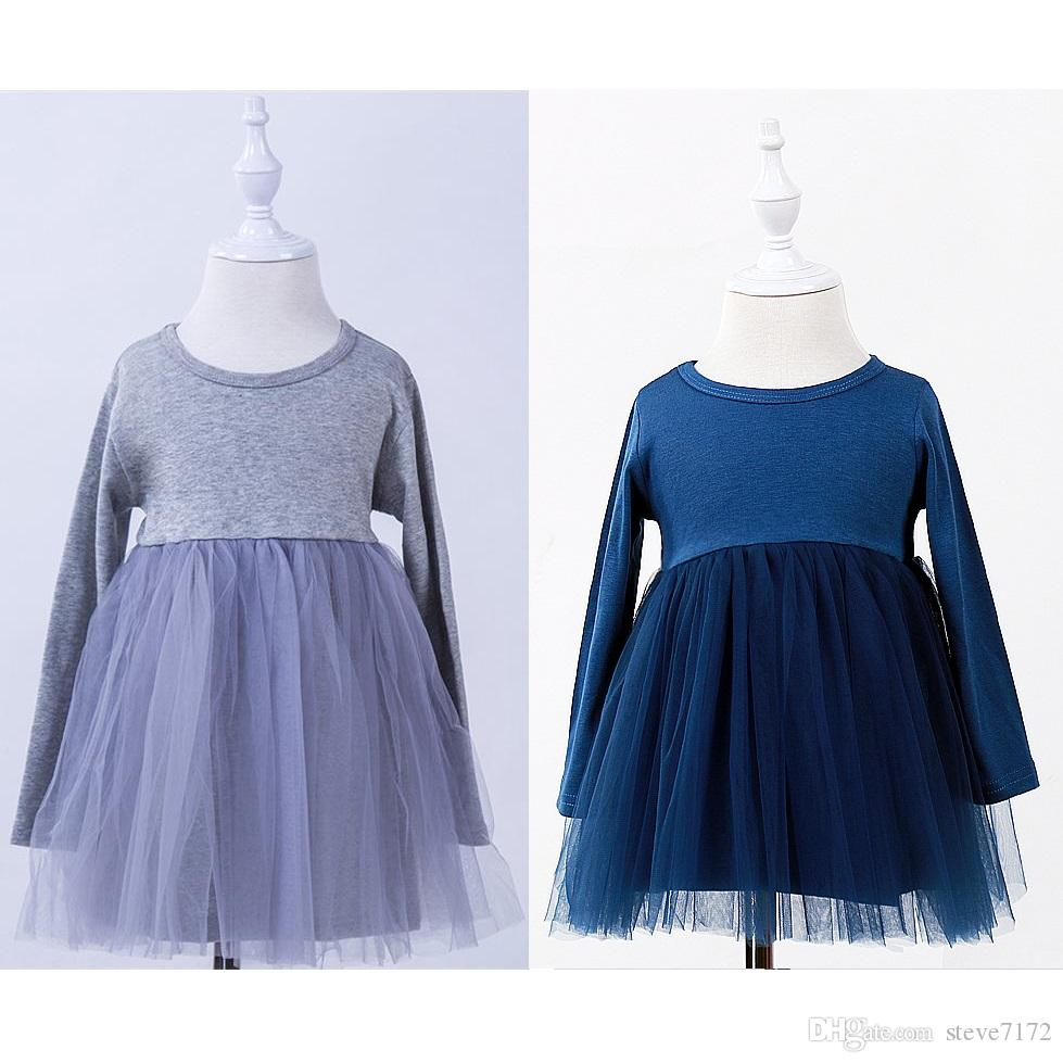 Autumn Children Tutu Dress Baby Girl Ball Gown Lace Ball Gown Long Sleeve Girls Pettiskirts 1-4Year Toddler One-Piece Clothes