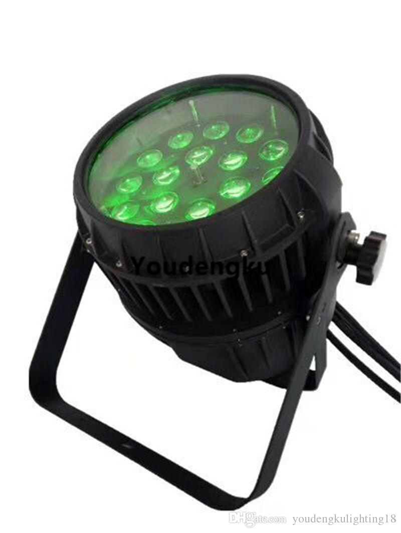 2 قطعة 18x18w RGBWA + الأشعة فوق البنفسجية 6in1 مقاوم للماء LED ZOOM الاسمية ضوء المرحلة IP 65 LED PAR ضوء LED PAR في الهواء الطلق
