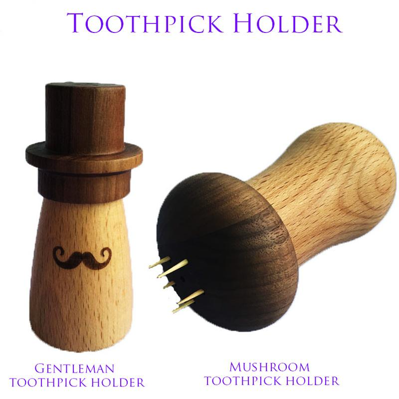 Toothpick Box With Lid Mushrooms and mustache Toothpick Holders Containers Kitchen Tools Portable Storage Case Organizer