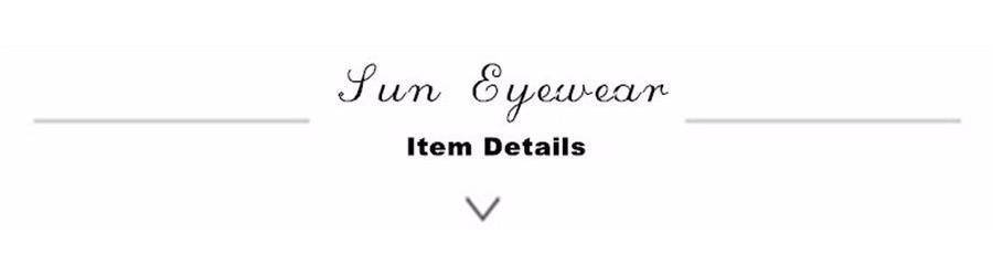 sun eyewear item details