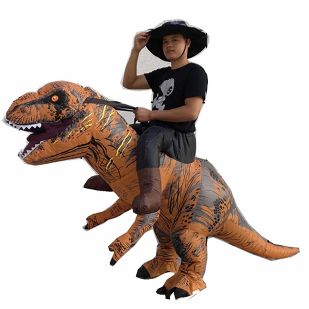 Yetişkin boyutu binmek Şişme T-rex dinozor fantezi Kostüm yetişkin T-rex dino beni şişme takım elbise taşımak