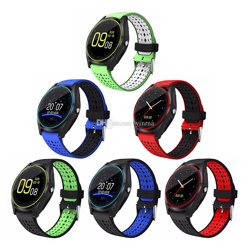 V9 Smart Bluetooth Watch Notification Sync Smartwatch Support SIM TF Card With HD Camera For iOS iPhone Samsung Android Phones