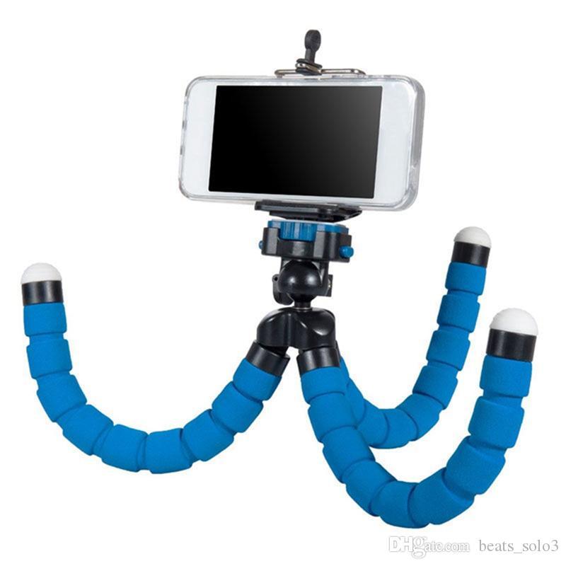 Flexible Tripod Holder For Cell Phone Car Camera Universal Mini Octopus Sponge Stand Bracket Selfie Monopod Mount With Clip 2018
