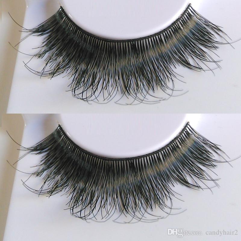 605 estilos gruesos Pestañas Moda suave Falso Falso Pelo humano Pestañas Adhesivos Glamour humo Ojos pestañas Maquillaje Belleza