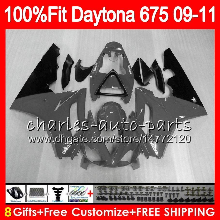 Triumph Bodywork İçin Enjeksiyon Daytona 675 Gri Siyah 2009 2010 2011 2012 107HM.95 Daytona 675 09 10 11 12 Daytona-675 Daytona675 Fairing
