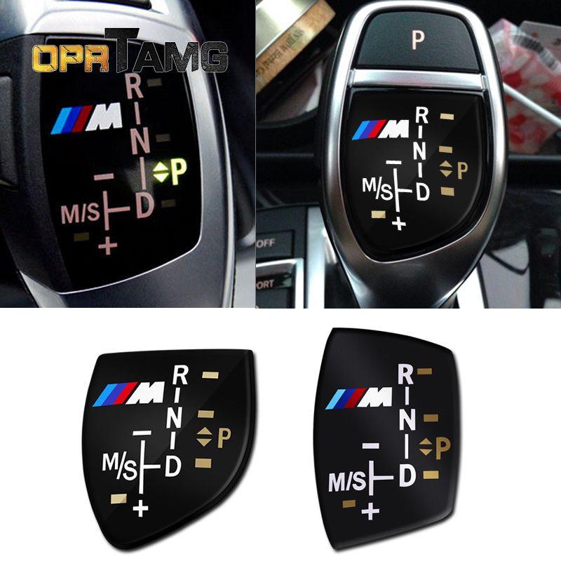 عالية الجودة 3d m الشعار والعتاد التحول المقبض ملصق غطاء لسيارات bmw x6 m3 m5 325i 328 f30 f35 f18 f20 f21 gt 3 5 سلسلة سيارة الملحقات