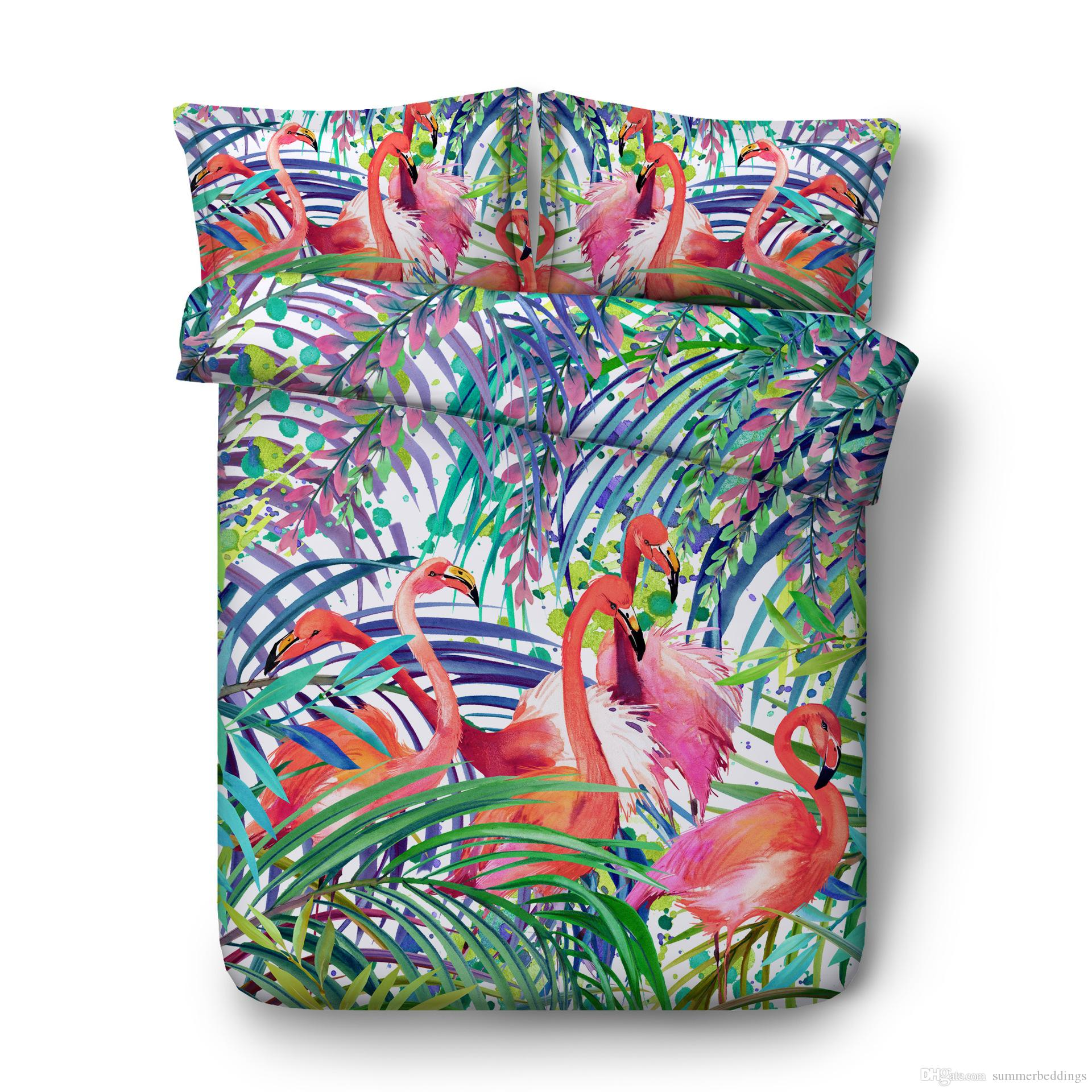 3D Owl Duvet Cover Zebra butterfly Flamingo leopard Bedding Sets Bedspreads Holiday Quilt Covers Bed Linen Pillow Covers California King