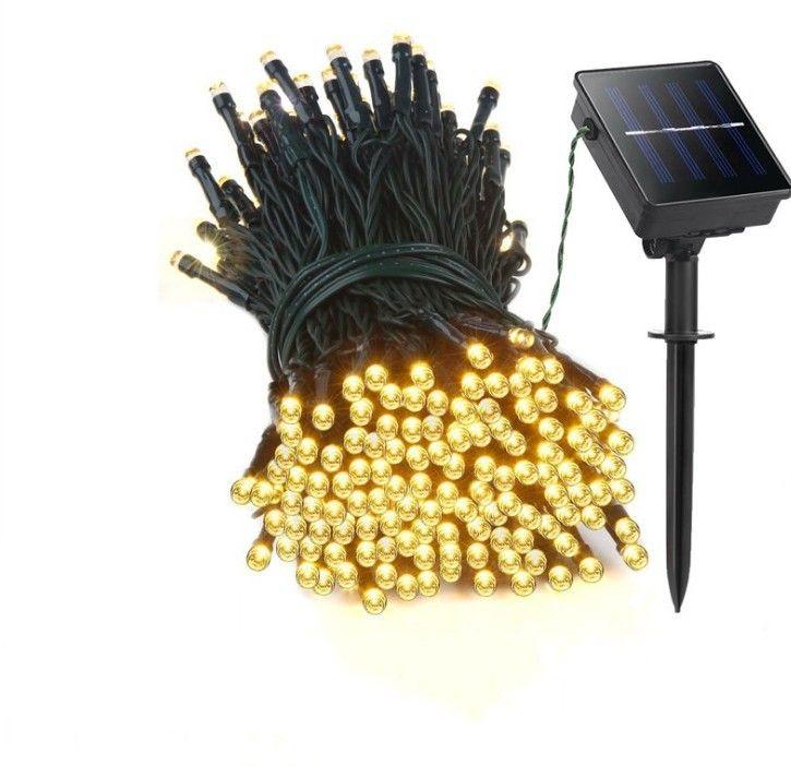 Solar Light 22M 200led Lichterketten Sternengarten wasserdicht Outdoor Weihnachten dekorative Kupfer Linie Lichter