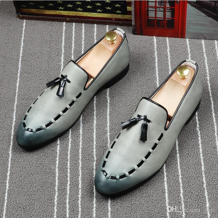 2018 Nouveau Style Style Britannique Bout Pointu Chaussures Formelles Homme Pu En Cuir Oxford Printemps Hommes Italie Robe Chaussures Mâle Affaires De Mariage Chaussure S365