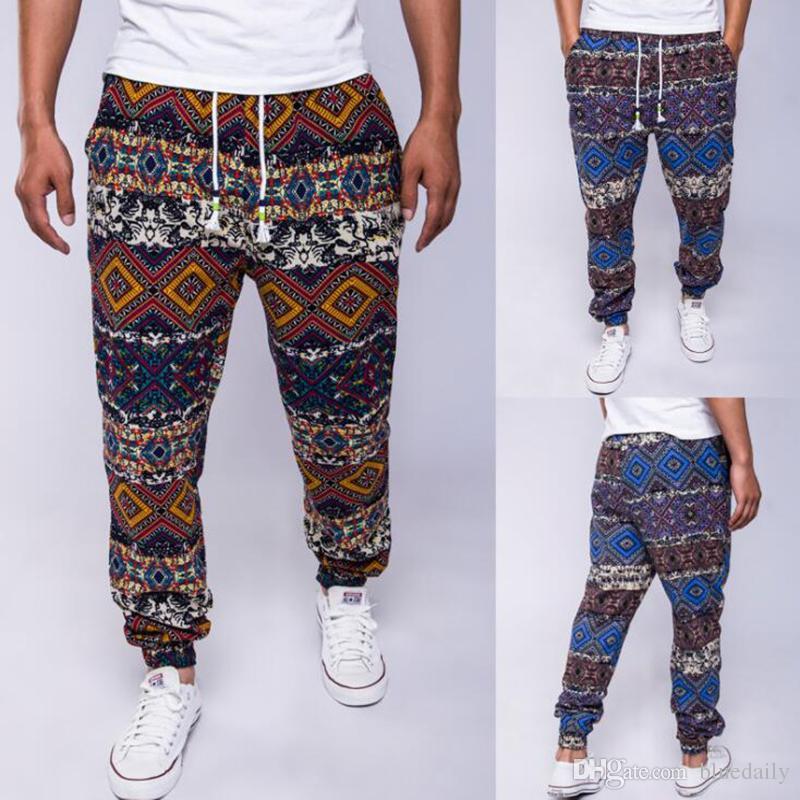 Compre Pantalon De Vestir Casual Para Hombres Pantalones Es Diseno Y Color Algodon Hombres Hip Hop Pantalones Sueltos Para Hombres A 26 26 Del Bluedaily Dhgate Com