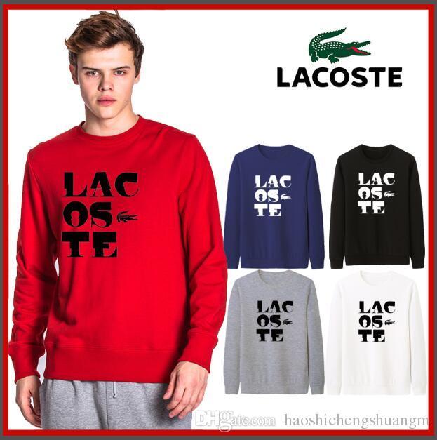Livraison gratuite S-3XL nouveau polo motif crocodile 1033 # manteau veste à manches longues hommes veste en coton à manches longues hommes polo shirt vêtements chauds