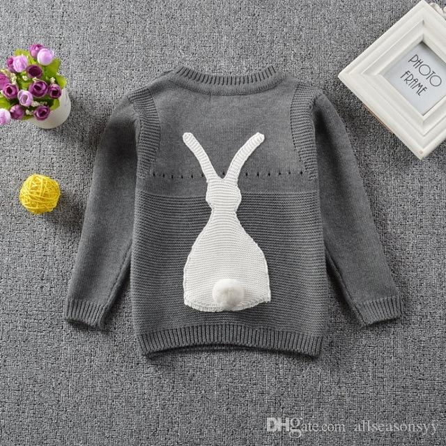 Boy Sweater 2018 Autumn Knitted Pullover Cardigan For Baby Girls Children Clothes Kids Infant Top Wool Cartoon Rabbit Sweater