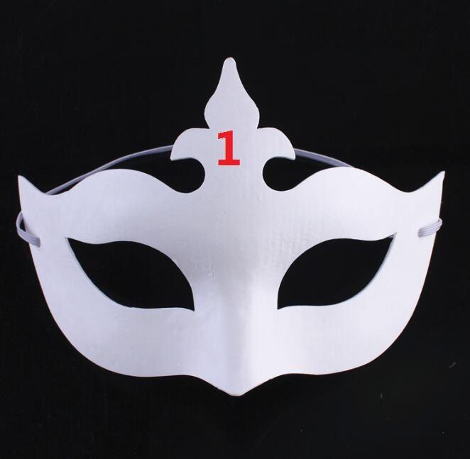 Color DIY Unpainted Masquerade Masks//Pack of 8 Ru S White Masks