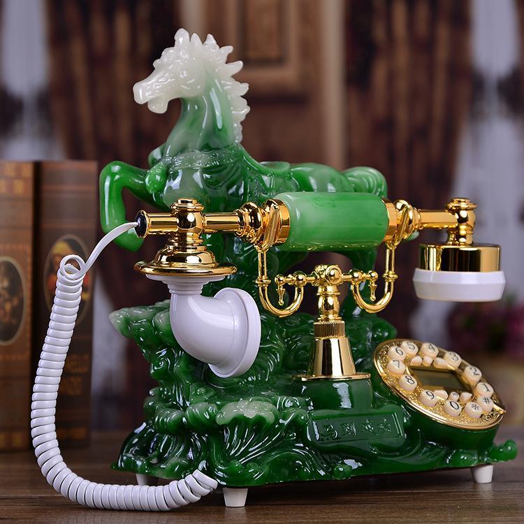 الهاتف العتيقة الهاتف الثابت القاري الرجعية الهاتف المنزل الأمريكي الثابت الأزياء الحصان الإبداعي للنجاح