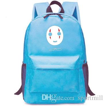 Spirited Away backpack Mr no face school bag Cartoon daypack Leisure schoolbag Outdoor rucksack Sport day pack