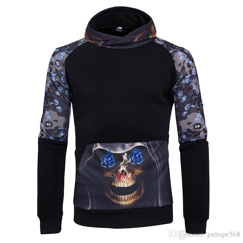 JM The side of the digital printing hoodies baseball clothing sleeve hooded cardigan long sleeved sport coat