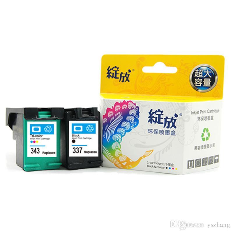 Cartucce d'inchiostro 2PK rigenerate per HP 337 343 Photosmart 2575 8050 Deskjet 6940 6980 D4160 5940 Officejet 6310 6315