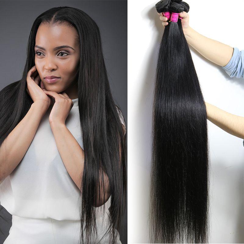 Fastyle Long Long Vierge Brésilienne Vierge Vierge Human Tissu 28 30 32 34 36 38 40inch Human Hair Bundles Extensions de cheveux Remy