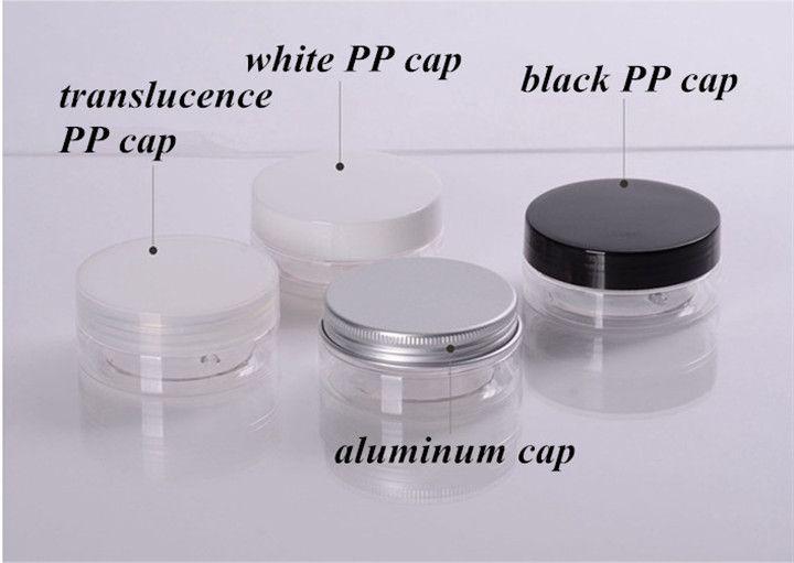 High quality 3ml plastic pot jar clear bottle with color lid printing logo,3g plastic eye cream pot box jar