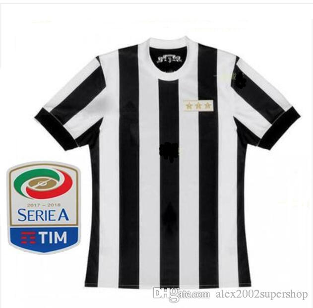 839f7c4e3 2019 120th Patch Serie A 17 18 HIGUAIN Jerseys 2017 2018 KHEDIRA DYBALA  MARCHISIO CHIELLINI 120 Years Home ANNIVERSARIO Shirt From  Alex2002supershop