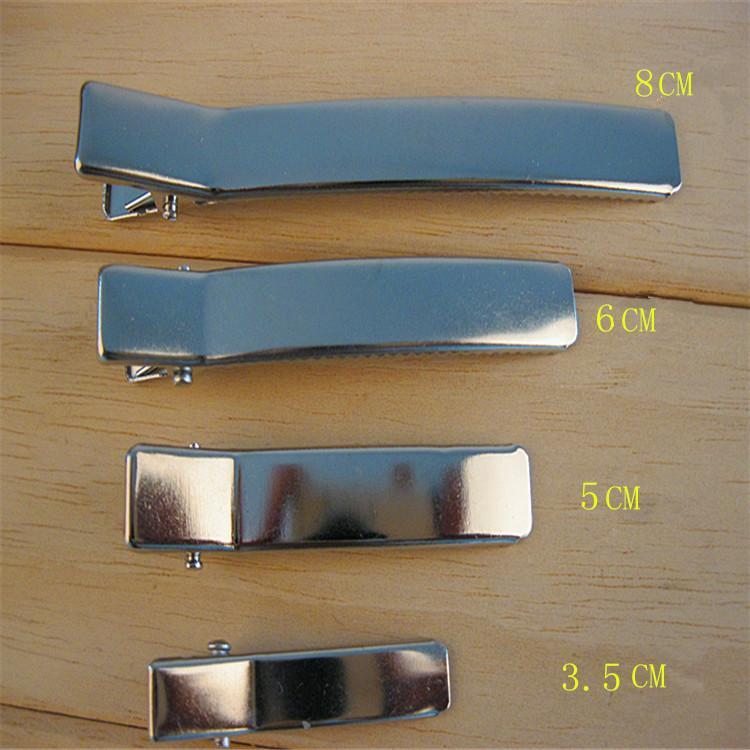 Toptan-DIY saç aksesuarları Metal paslanmaz malzeme tokalar Kare ördek gagası klibi timsah klip bulgular üreticisi 50pcs / lot