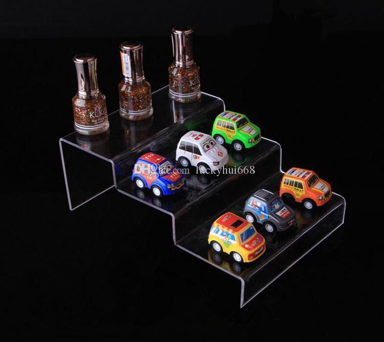 5pcs 3 Tier Makeup Organizer Nail Polish Display rack Acrylic cosmetics holder jewelry model car toys wallet phone shoes display stand rack