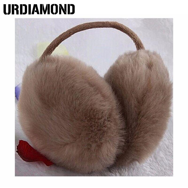 URDIAMOND Earmuffs Winter Warm Unisex Adult Solid Color Fashion Novelty Fur Women Men Hot Sale Plush Ear Muffs
