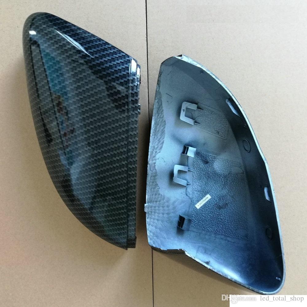 Ersatz R/ückspiegel-Abdeckung for VW Polo 6R 6C Seitent/ür Fl/ügel-Spiegel-Abdeckung ersetzen Caps Carbon-Faser Fit for Volkswagen 2010 2011 2012 2013 2014 2016 2017