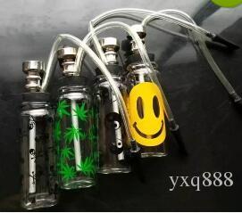 Eine Vielzahl von Mini Glas Wasserpfeife Großhandel Glasbongs Rohre Wasserpfeifen Glaspfeife Rauchen Zubehör Gelegentliche Lieferung von Farbe