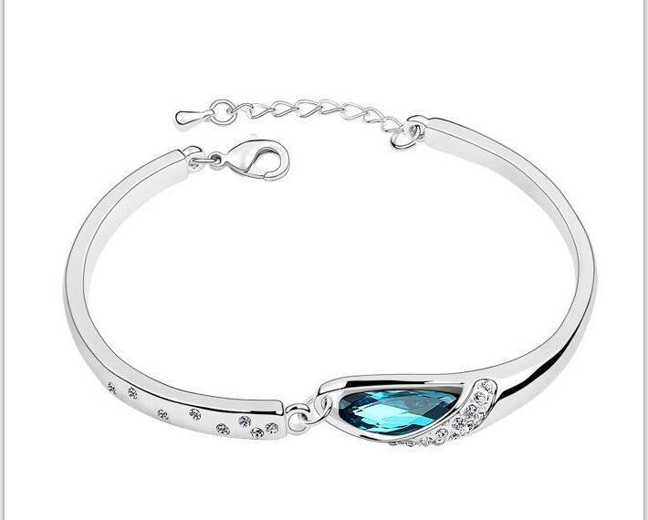 Braccialetti Braccialetti di cristallo di modo dei braccialetti di cristallo del braccialetto di cristallo del cristallo del rhinestone della lega placcati oro sterlina dei braccialetti di modo dei braccialetti dei braccialetti