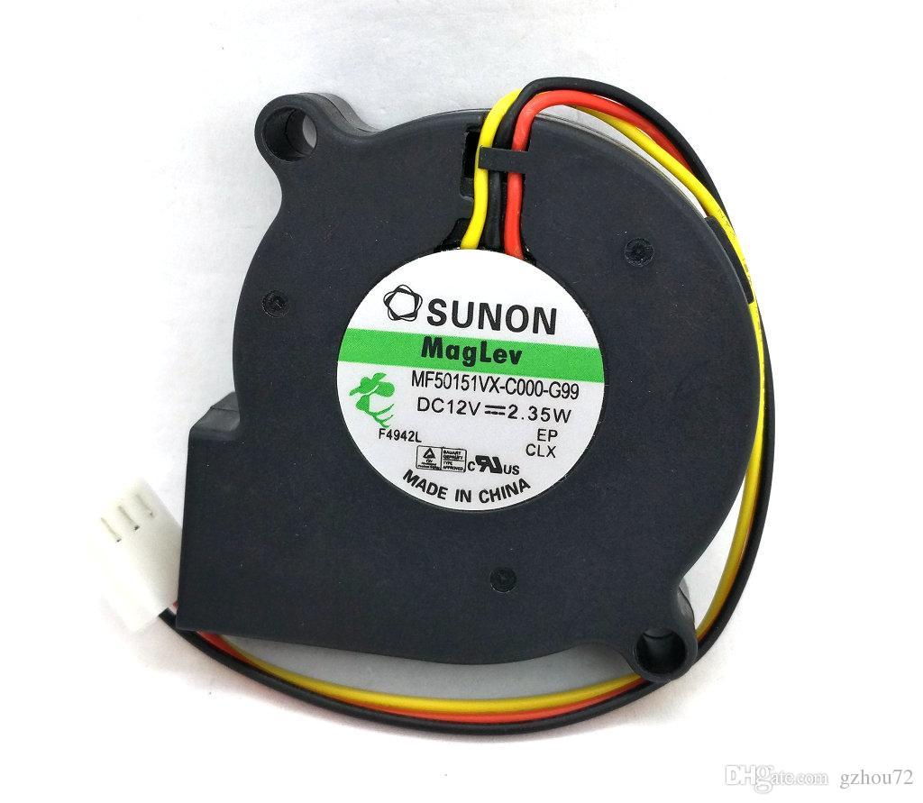 New Original SUNON MF50151VX-C000-G99 50 * 15 MM DC12V 2.35 W 3 Linhas Ventilador de Computador Ventilador De Refrigeração