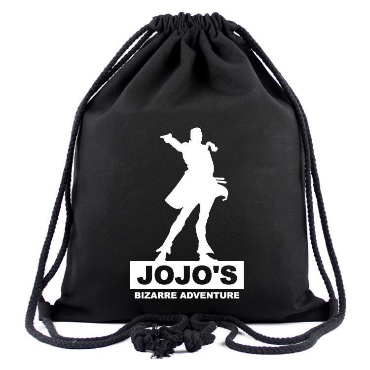 JOJO'S BIZARRE ADVENTURE Borse da tasca con cordino Kawaii Bolasa Nero Fashion School Zaini borsa da tela per uomo regali 40 cmn